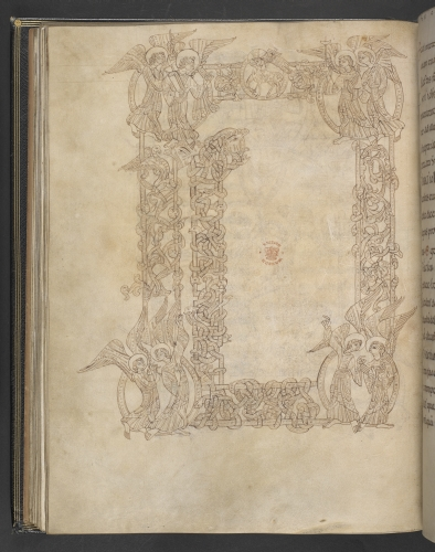 Decorated initial (unfinished)